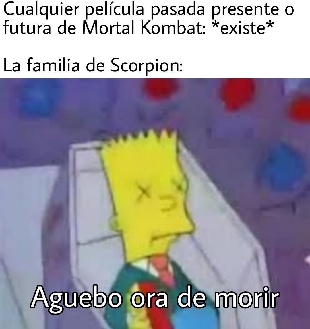 Ya entendimos Scorpion es un personaje trágico - meme