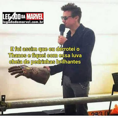 Cena do Vingadores 4 - meme