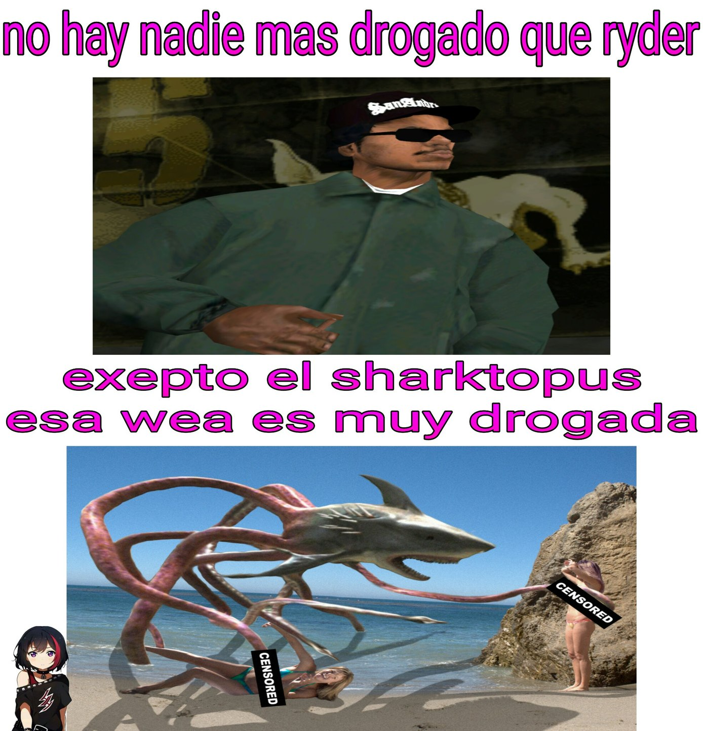 Ahi esta...el tiburon - meme