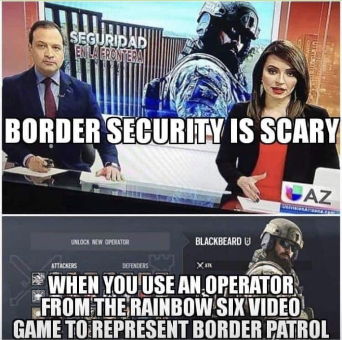 Blackbeard border security - meme