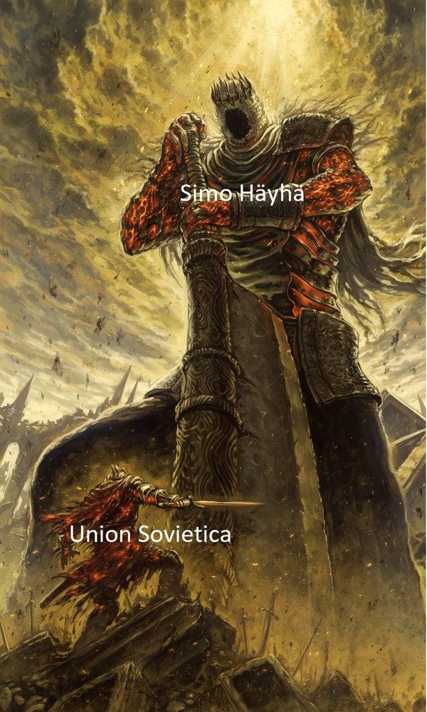 Contexto: Simo  Häyhä fue un francotirador que mato ha mas de 500 soldados soviéticos en la WW2 - meme