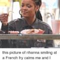 Fries make me smile