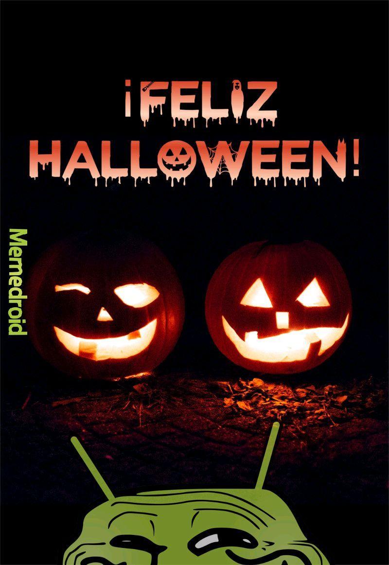 Memendroid te desea un Feliz halloween