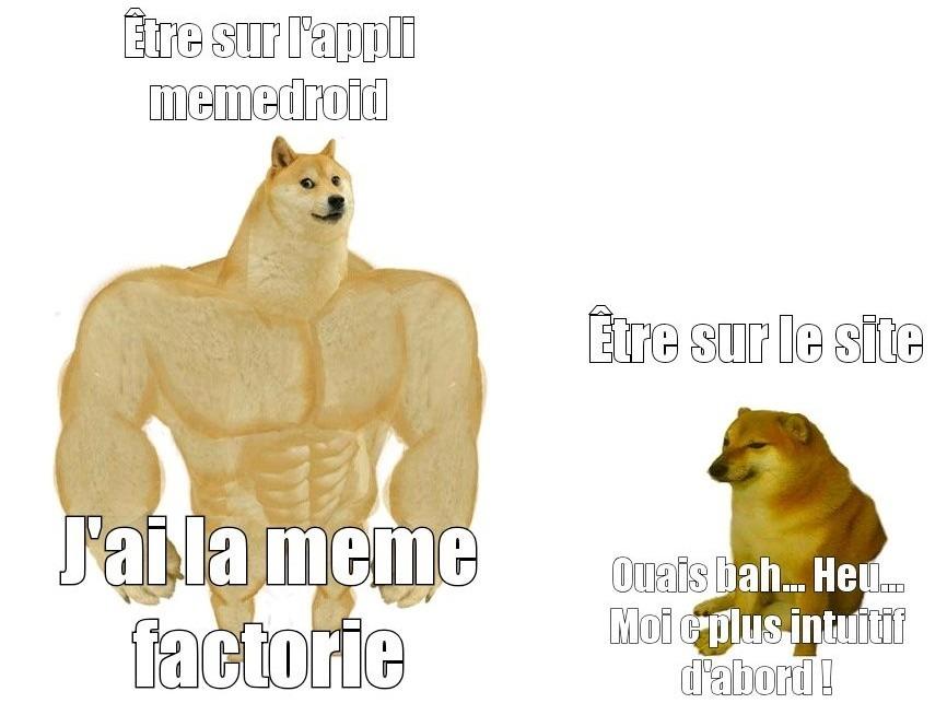 Dite si vous êtes sur l'appli - meme