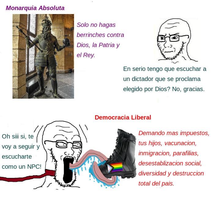 Abajo la Democracia - meme