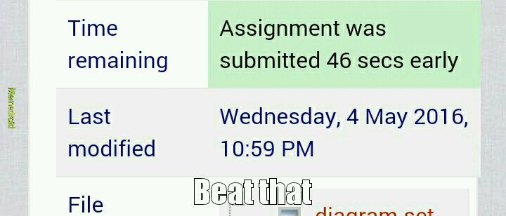 Uploading assignments - meme