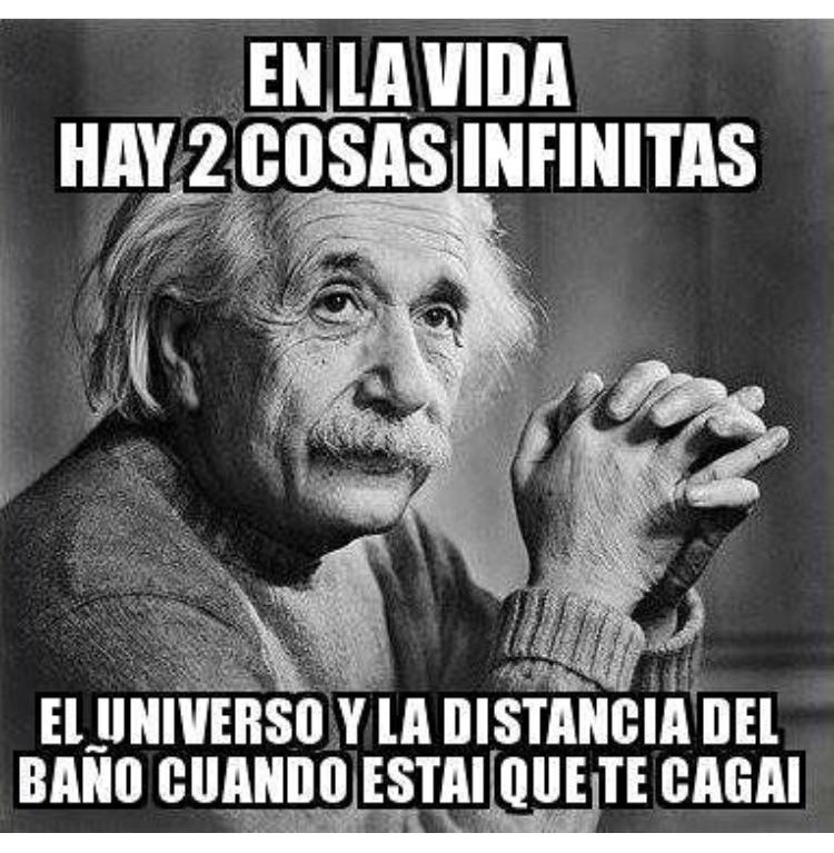 eso si que es una distancia infinita - meme