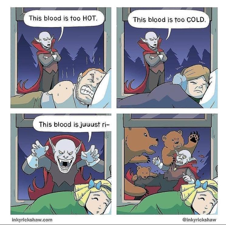 bears vs vampire - meme