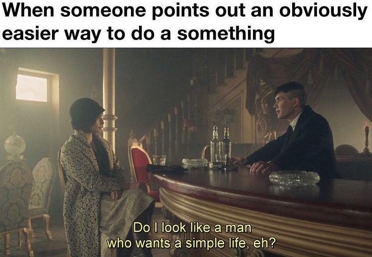 simple man - meme