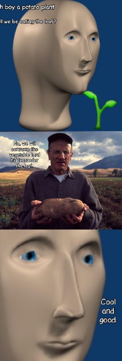 I taste a vegetal - meme