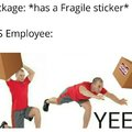 How UPS handles fragile packages