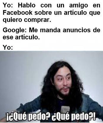Google nos vigila - meme