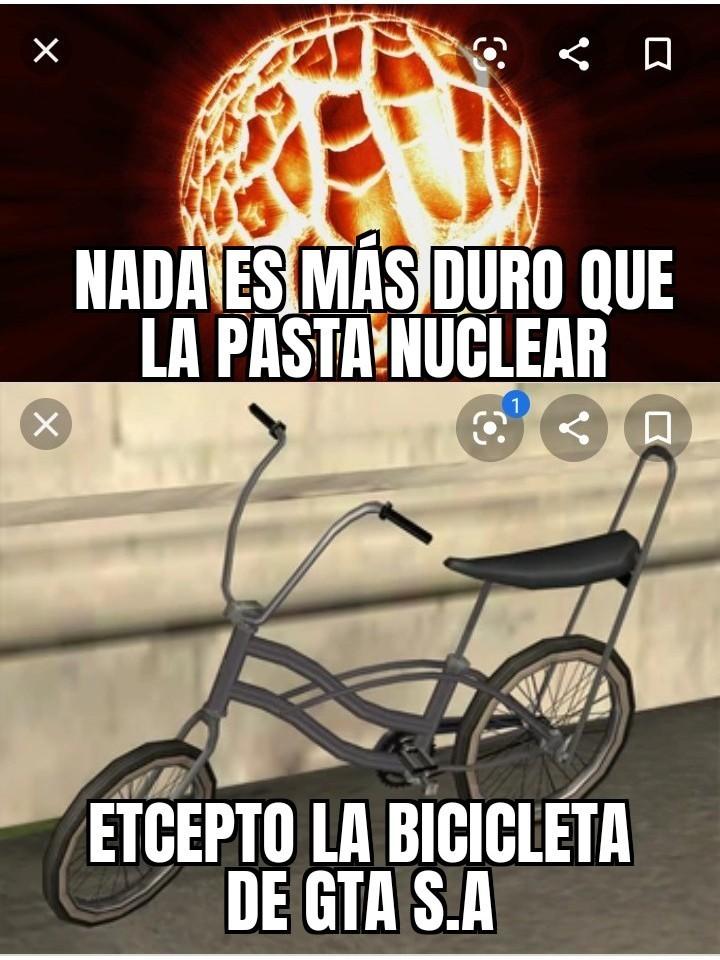 Bicicleta rompe autos - meme