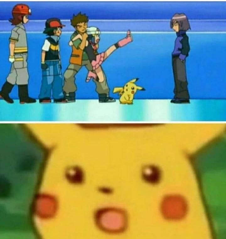 O que o pikachu viu? - meme
