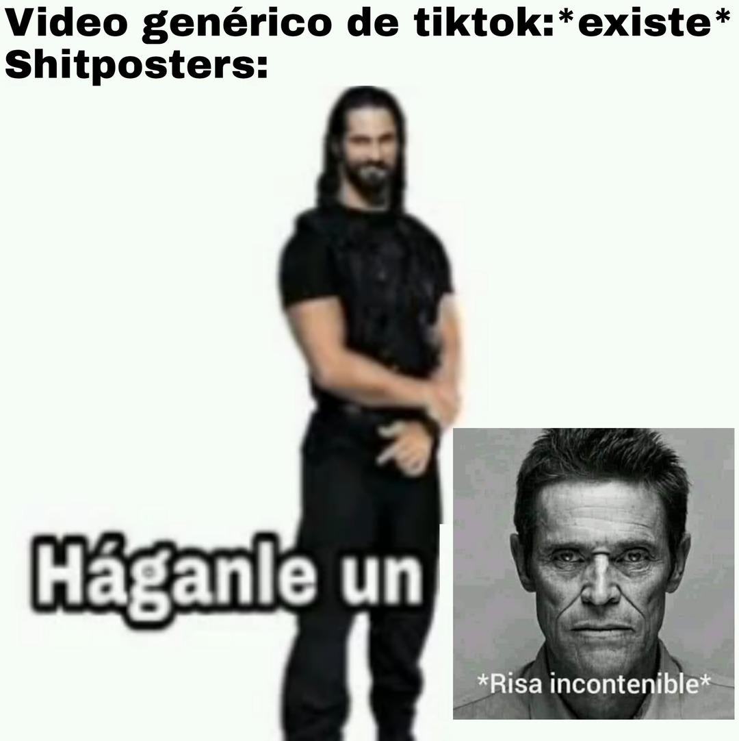 Háganle un *risa incontenible* - meme