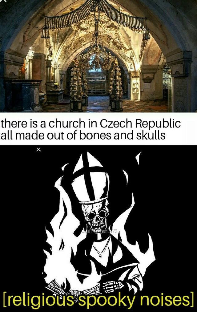 Religious spooky noises - meme