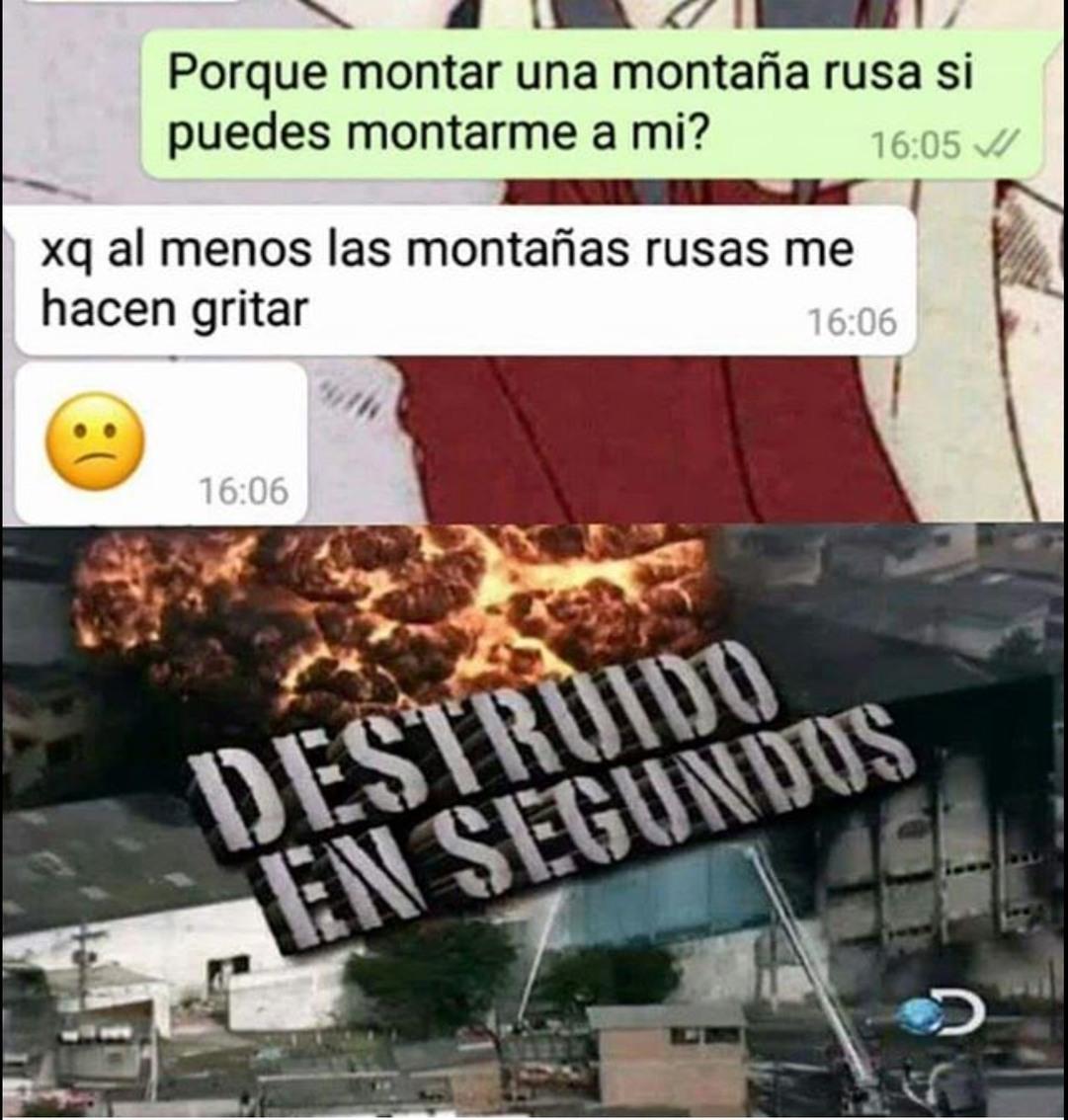 Destruido en segundos  - meme