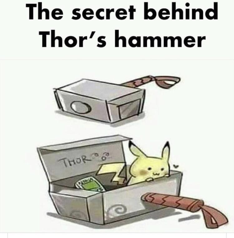 Thor Odin's Son...Pikachu Thor's pet - meme
