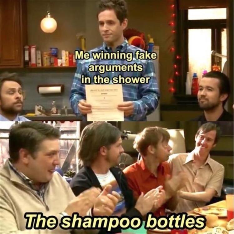 Shampoo bottles are the best listeners - meme