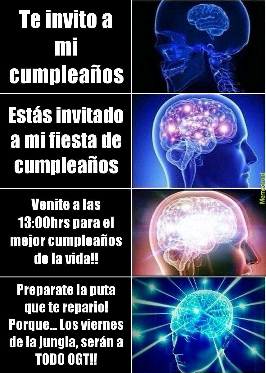 Tipos de invitaciones a cumpleaños - meme