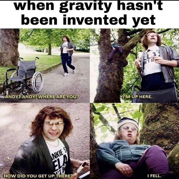 I fell - meme