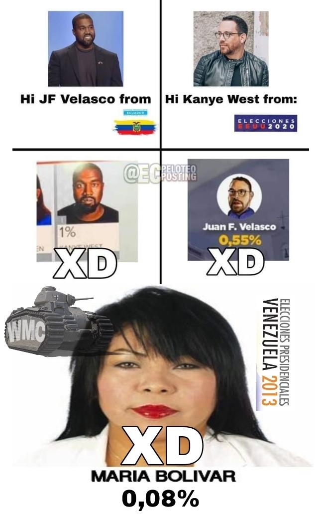 Contexto: en 2013 en las elecciones de Venezuela esa tipa se postuló y solo 300 de 31 millones votaron por ella XD - meme