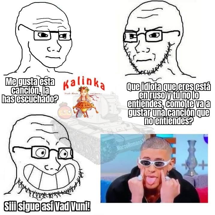 Gay Vuni Bad Kalinka Gud - meme