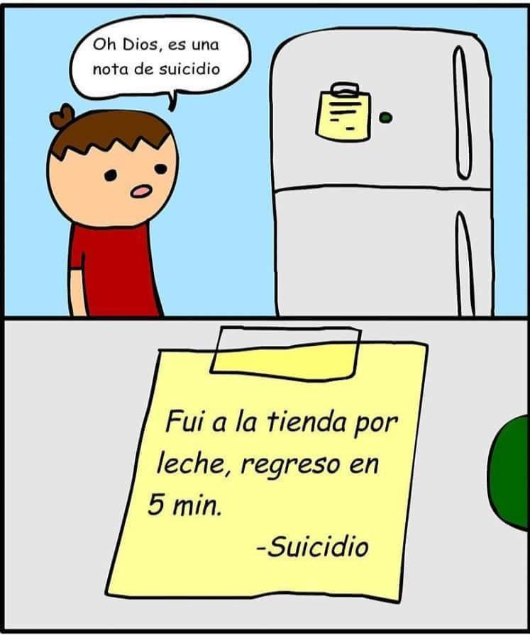 Linda nota de suicidio - meme