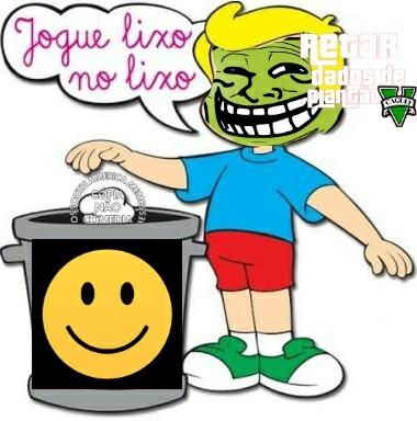 Lixo no lixo pessoal - meme