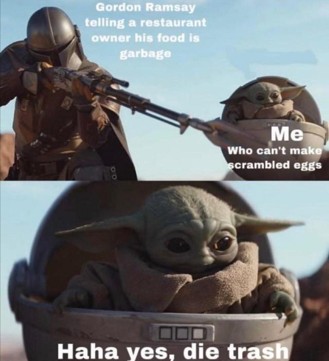 Nibbas serving actual microwave food tho - meme