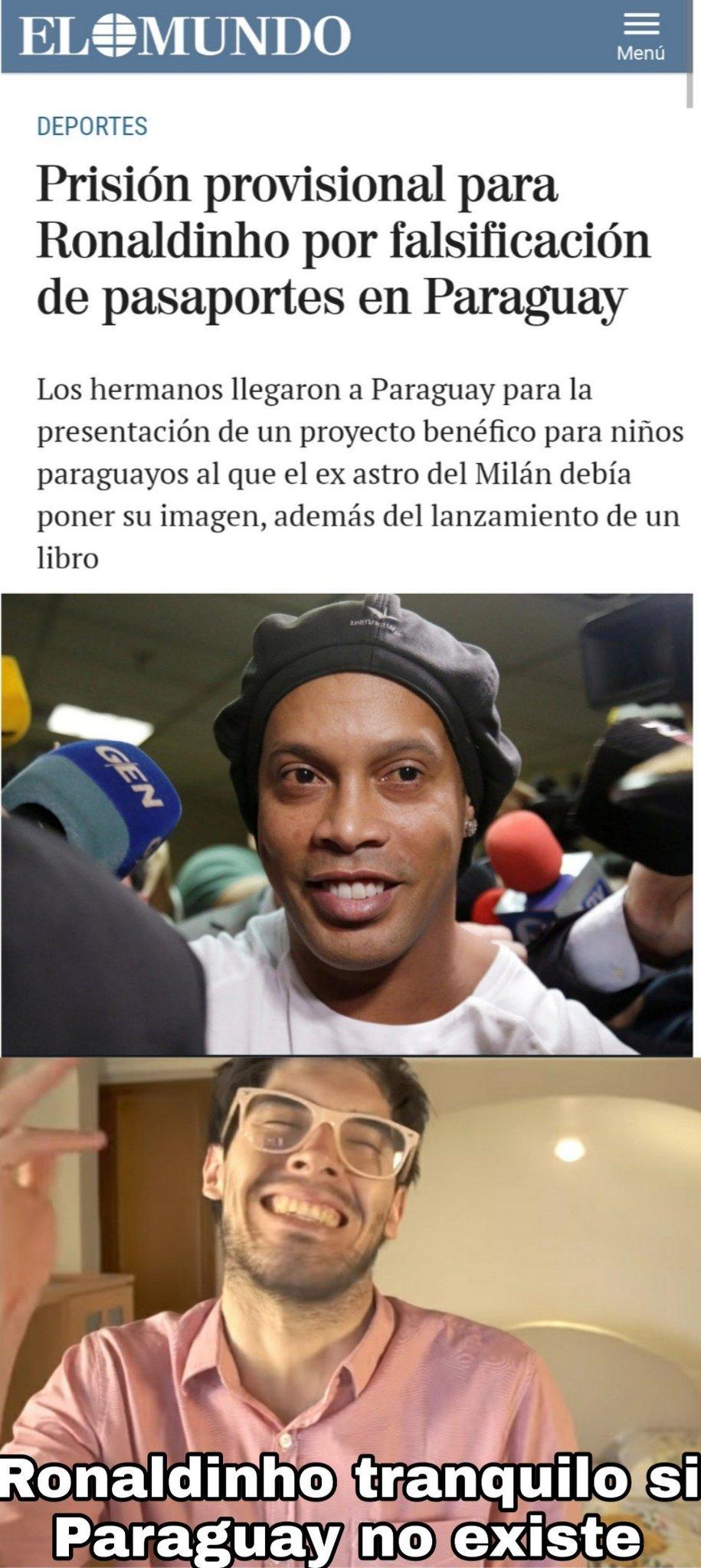 Ronaldinhoooo Paraguay no existe - meme