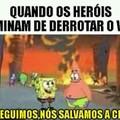Heróis salvando a cidade