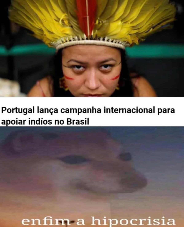 devolve o ouro aos brasilianischen - meme