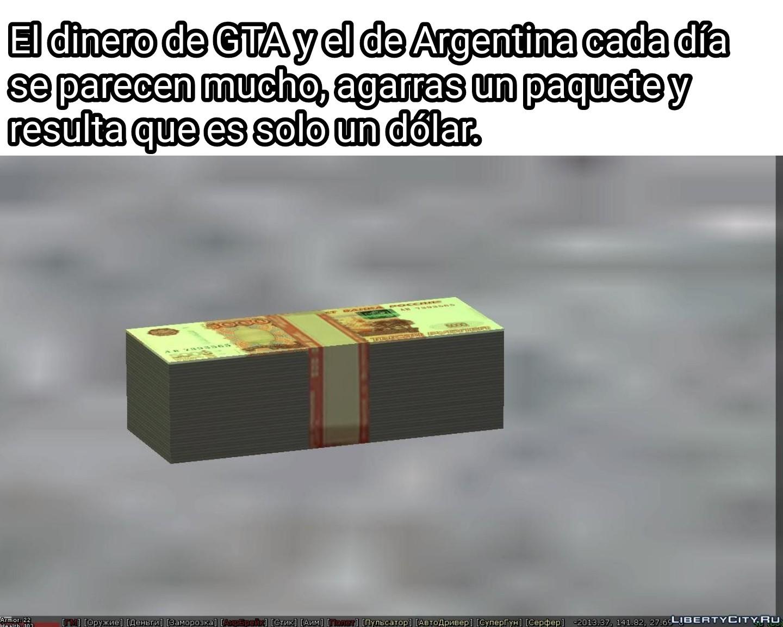 Algún día iré a Argentina, con dólares - meme