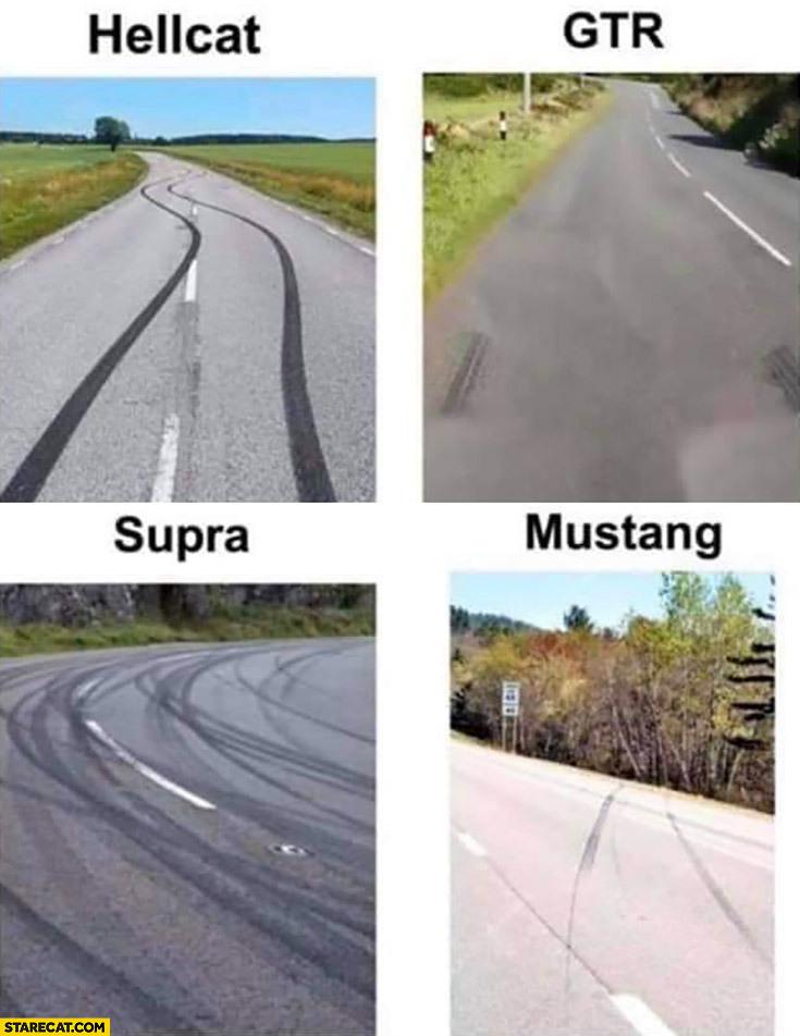 tire marks - meme