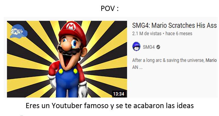 Mario se rasca el culo - meme
