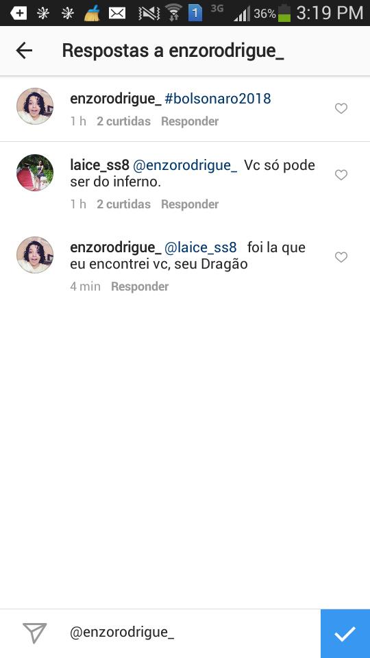 Quando vc comenta #bolsonaro2018 na pagina feminina - meme
