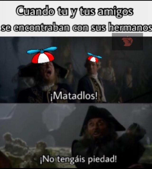 ¡Malditos hermanos! - meme