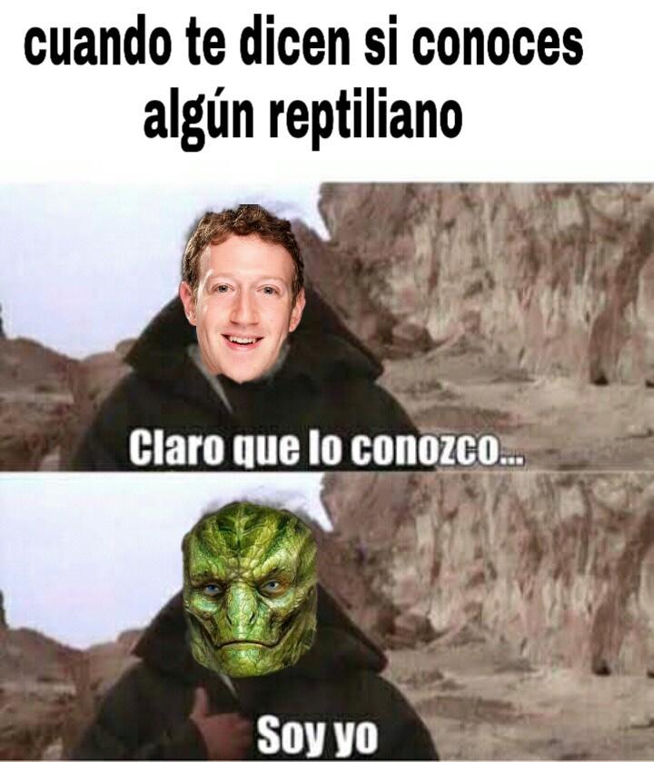 Reptilianos - meme