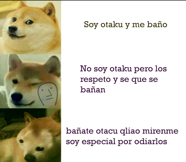 #LosOtakusSiSeBañan - meme
