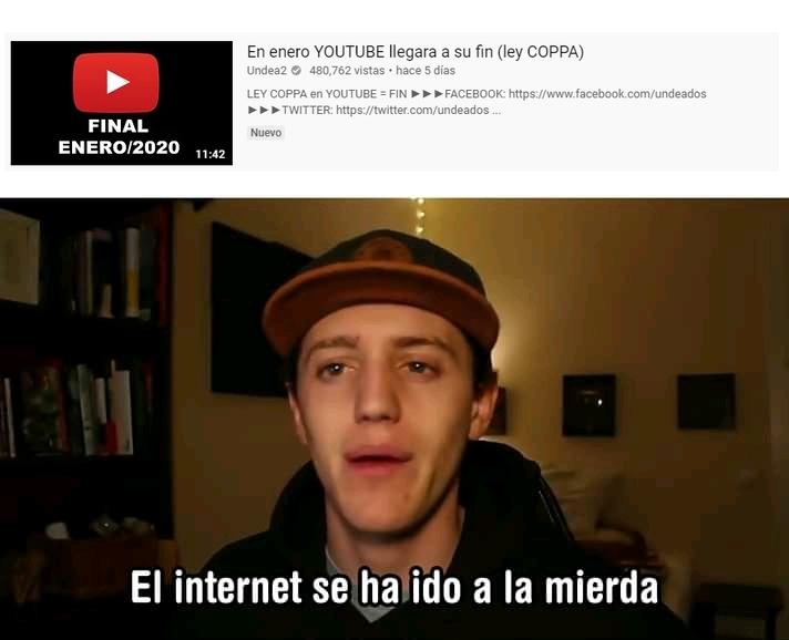 NO a la Ley COPPA - meme