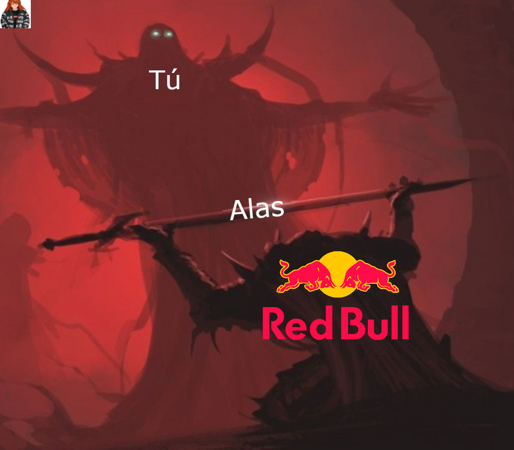 """¡Red Bull te da alas!"" - meme"