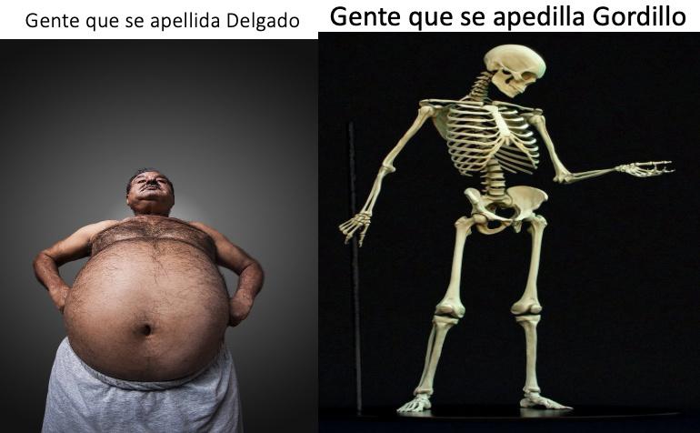 GENTE QUE SE APELLIDA GORDILLO VS GENTE QUE SE APELLIDA - meme
