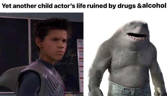 shark boys tragic future - meme