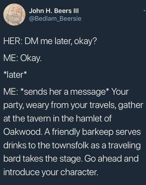 DMs Gonna DM - meme