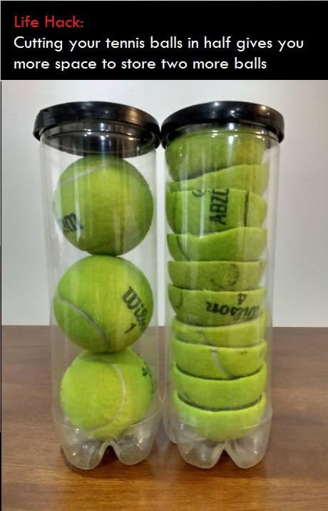 Life Hack: Tennis balls - meme