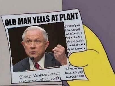 Jeff Sessions says don't smoke the Devil's Lettuce - meme