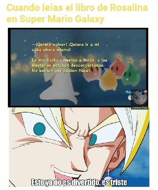 Mario galaxy es un juegazo - meme
