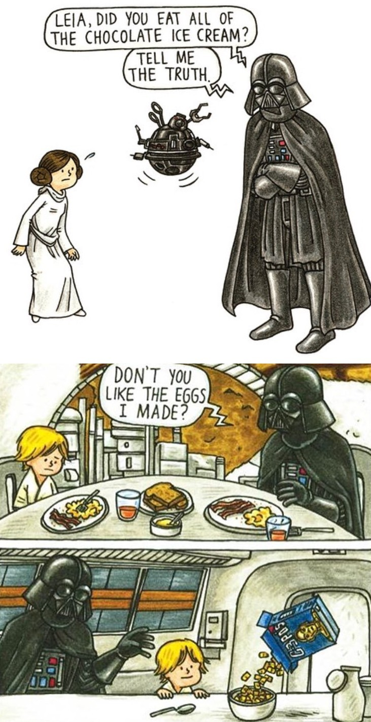 Not easy being a single Vader - meme