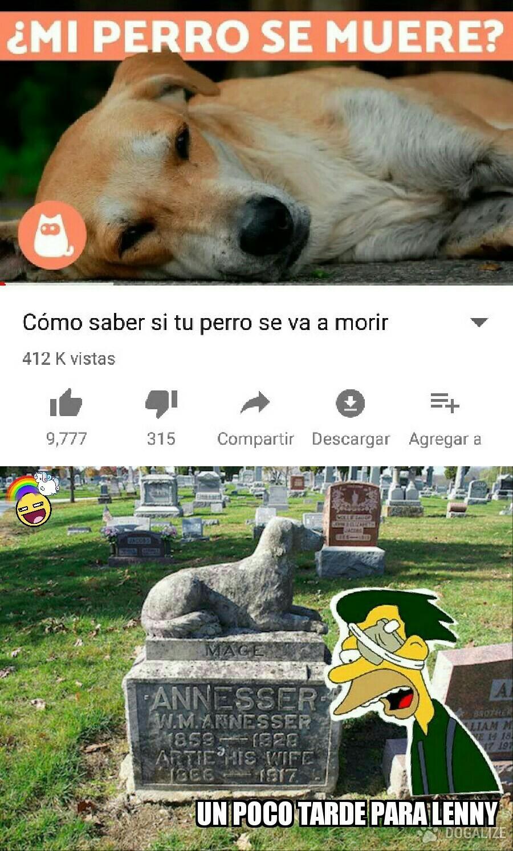 ...El titulo se fue al cementerio de mascotas... - meme